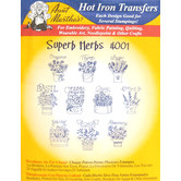 Superb Herbs Embroidery Transfer Pattern